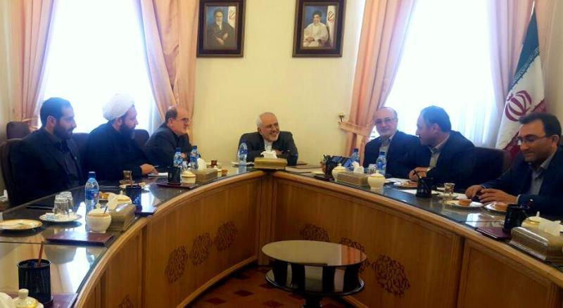دیدار استاندار ونمایندگان گیلان با دکتر ظریف