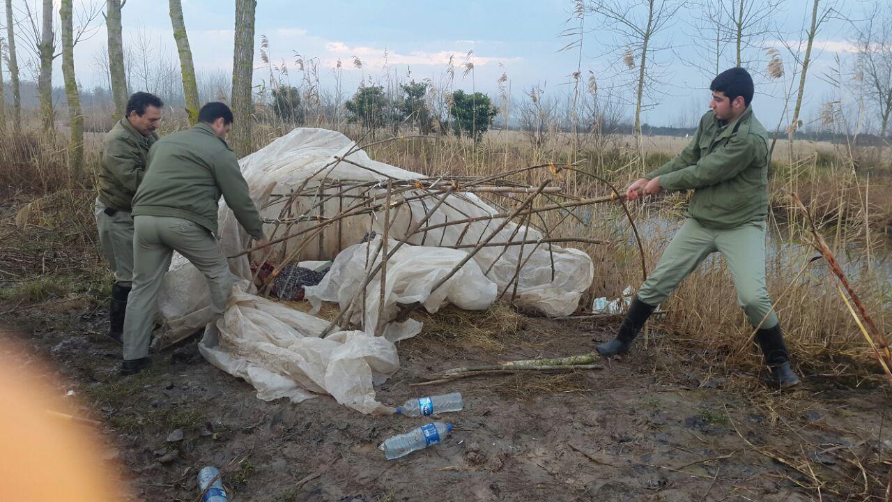 گشت و کنترل مشترک واحدهای یگان حفاظت محیط زیست در حوزه شرق گیلان