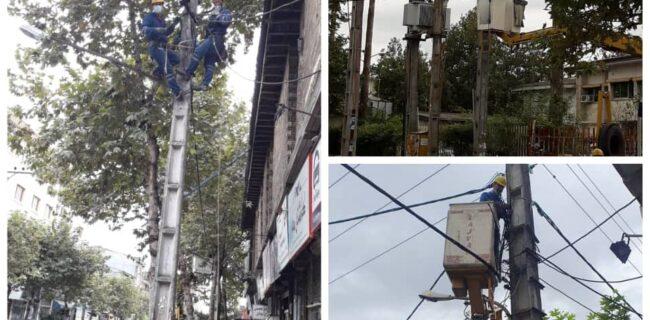 احداث ۳۰۰۰ متر کابل خودنگهدار در شهرستان لاهیجان