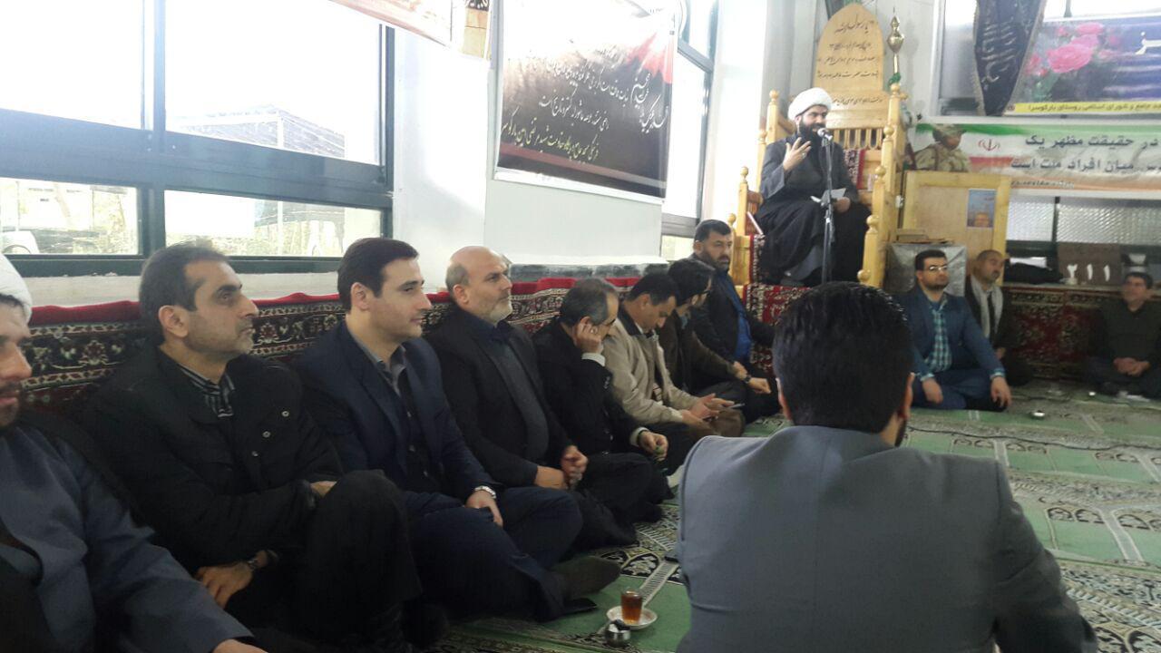 حضور مدیرکل حفاظت محیط زیست گیلان در یادواره شهدای بارکوسرای لاهیجان