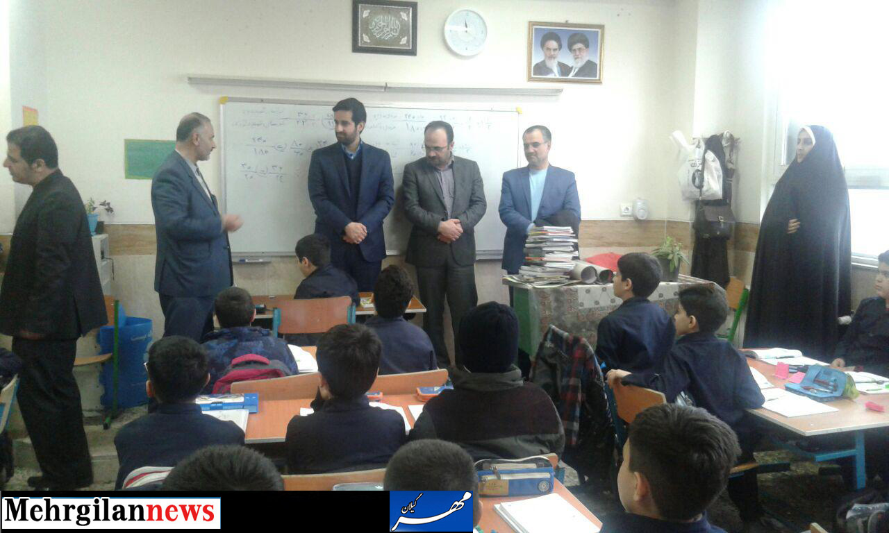 دیدار چندتن از اعضای شورای اسلامی شهر رشت از مدرسه پسرانه تائب به روایت تصویر