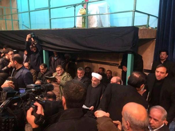 حضور رئیس جمهور و اعضای دولت در حسینه جماران