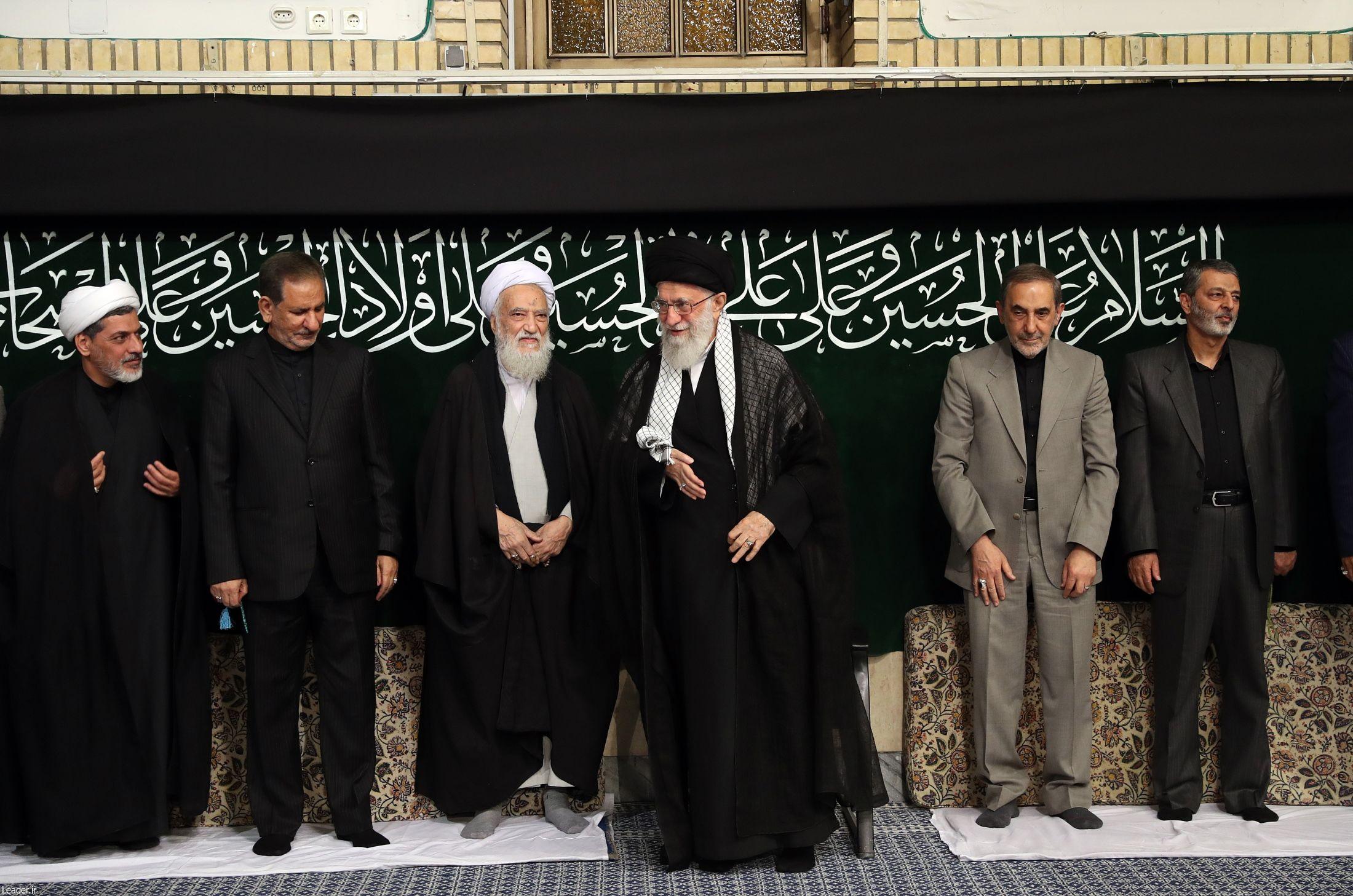 عزاداری شب تاسوعای حسینی (ع) باحضور رهبر معظم انقلاب