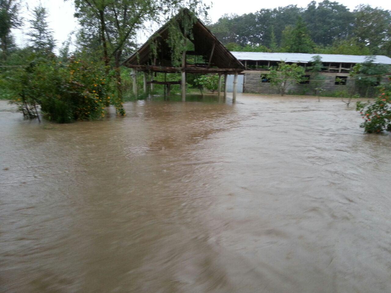 خسارات بارش شدید باران و طغیان رودخانه در گیلان