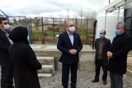 بازدید مدیرعامل شرکت آبفای گیلان از پکیج تصفیه فاضلاب مسکن مهر صومعه سرا
