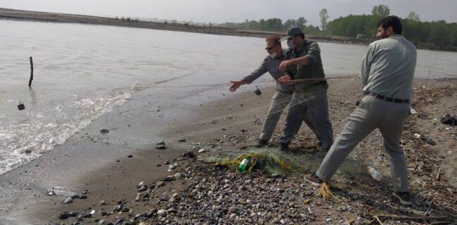 پاکسازی رودخانه پلرود از ادوات صید غیر مجاز