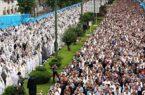 اقامه نماز عید فطر به امامت نماینده، ولی فقیه گیلان در فضای باز
